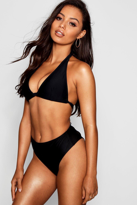 8a37f2ea5b74 Goa Mix & Match Fuller Bust Triangle Bikini Top   Boohoo