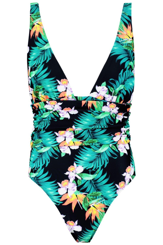 da seno costume per abbondante con e bagno Sydney stampa increspature tropicale aB5Iqw7wx