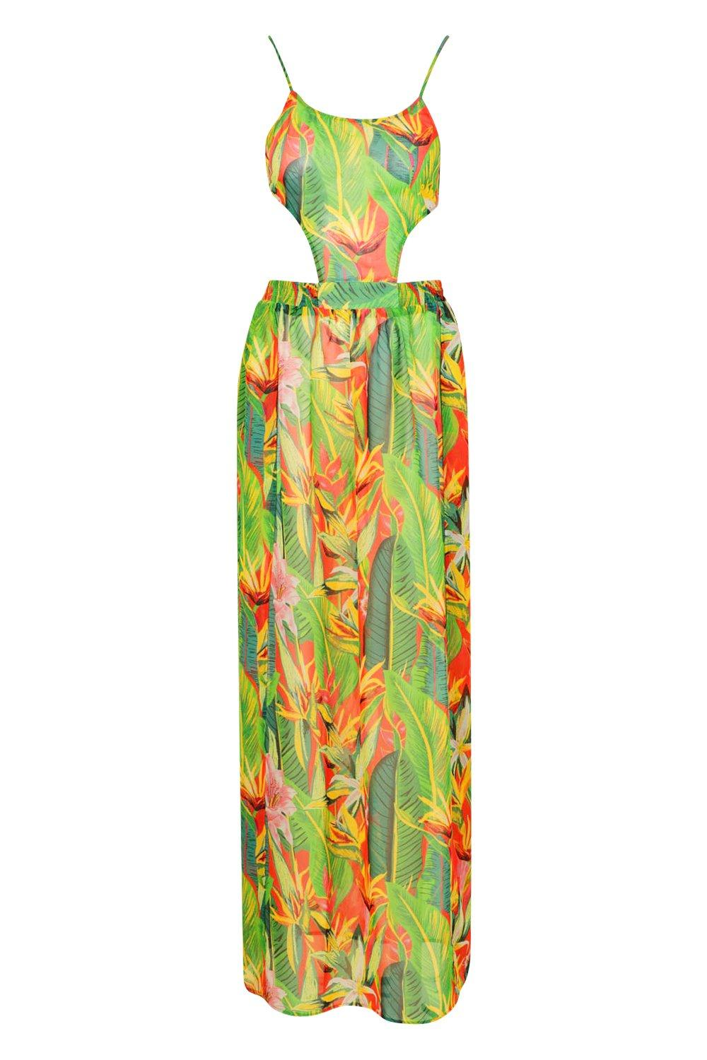 Maxi Dress Beach Out Tropicana Cut fHqxxB1