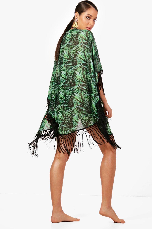 Heavy Rainforest Fringe Fringe Heavy Kimono Rainforest green Rainforest Heavy Fringe green Kimono Kimono green qUtvxMA