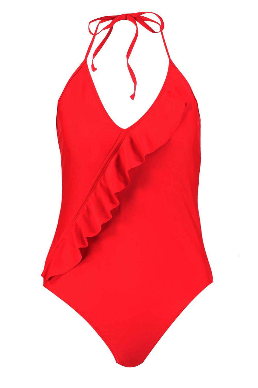 Swimsuit Ruffle Swimsuit Swimsuit red Ruffle red Ruffle 5g5qtw
