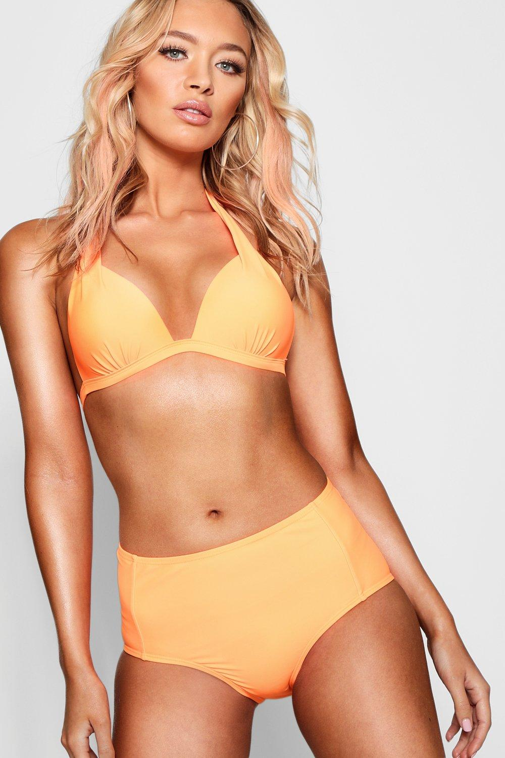 Mix Plunge Push orange Match Bikini Top Triangle Up amp; rOa4qr