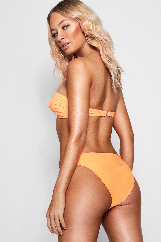 Mix Leg Match amp; orange Bikini Brief High 71r7qw