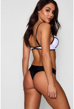 Black Mix and Match Cheeky Seamless Thong Bikini Brief