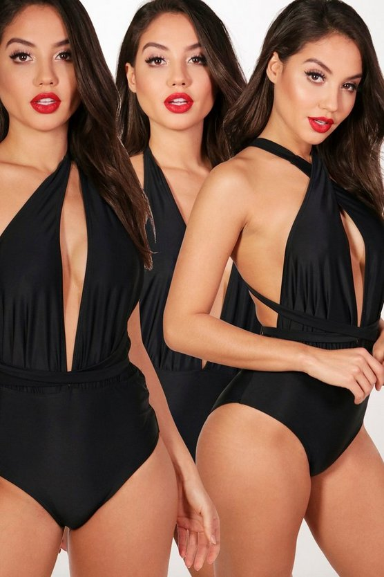 Brazil Multiway Swimsuit, Black, MUJER