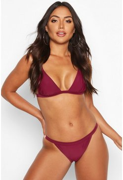 Algarve Mix & Match Clean Triangle Top, Burgundy, Donna