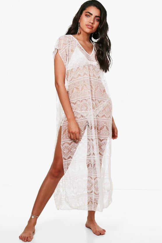 Skye Lace Split Leg Beach Kaftan