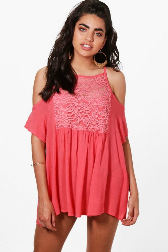 Ruby Embellished Beach Dress