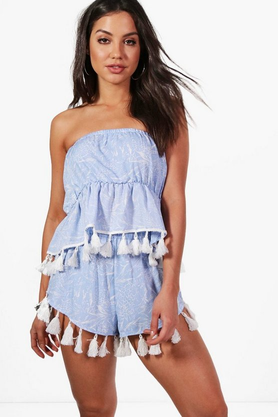 Naomi Pineapple Tassel Beach Co-ord