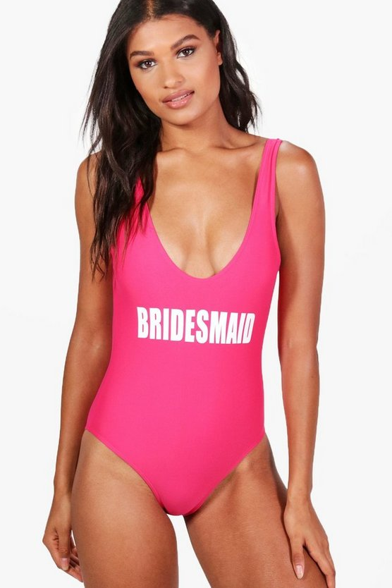 Phuket Bridesmaid Slogan Swimsuit