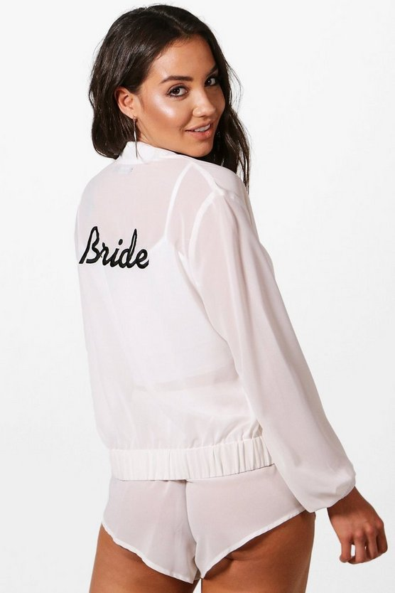 Angel Bride Beach Bomber Co-ord Set