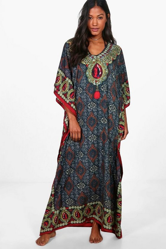 Ivy Digital Print Beach Kaftan