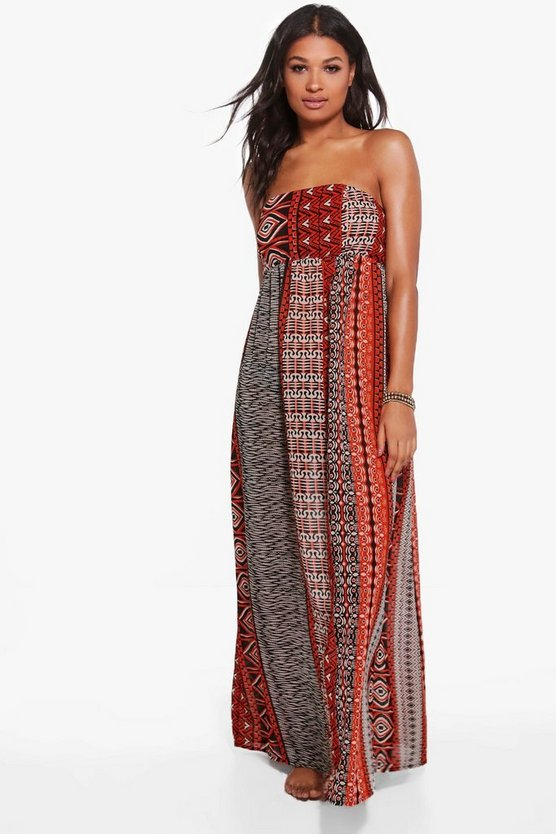 Womens Orange Vanessa Burnt Maxi Beach Dress