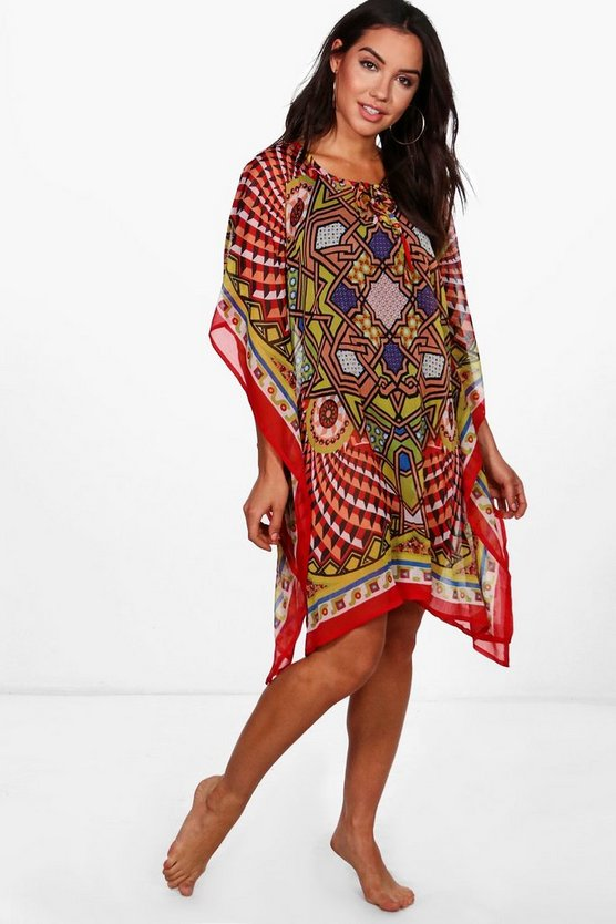 Grace Geometric Beach Kaftan