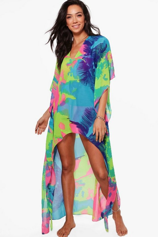 Holly Tropical Dip Hem Kaftan
