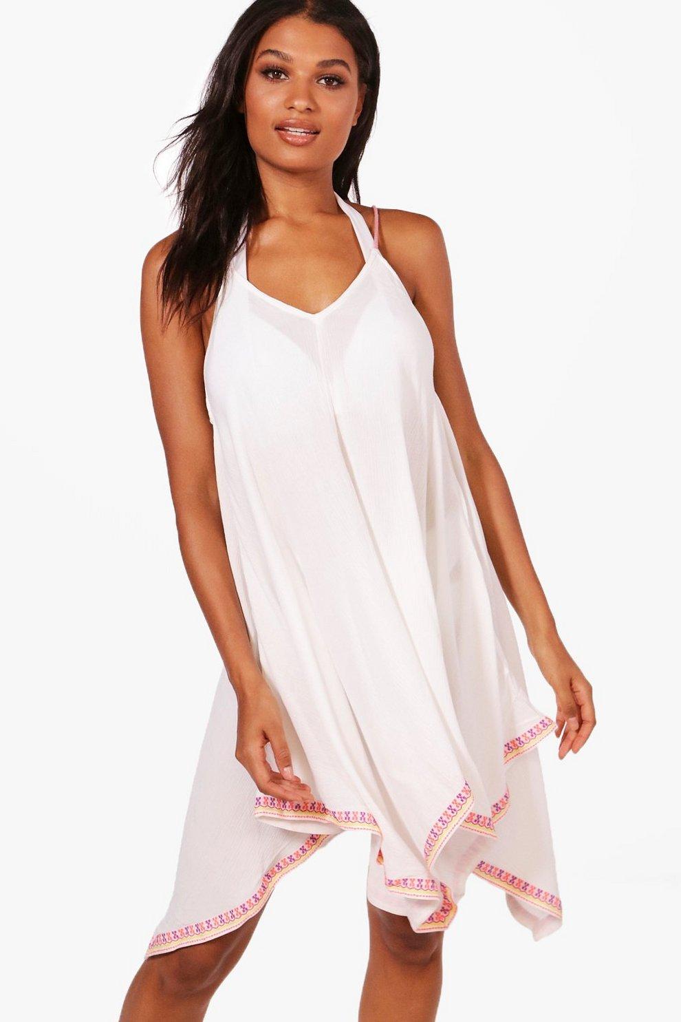 34de6390b88 Emma Neon Embroidered Beach Dress