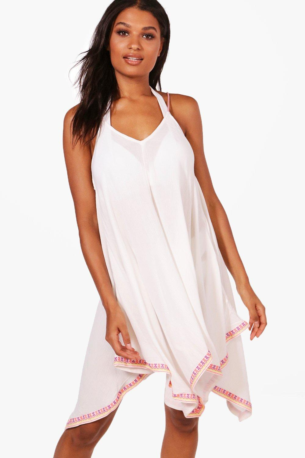 51695e4b77 ... Embroidered Beach Dress. Hover to zoom