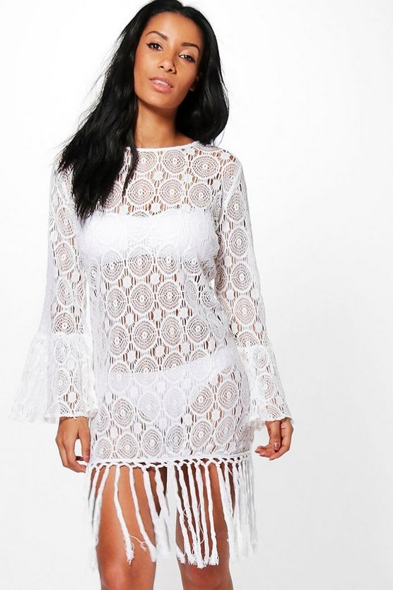 Lace Beach Cover Up Kaftan
