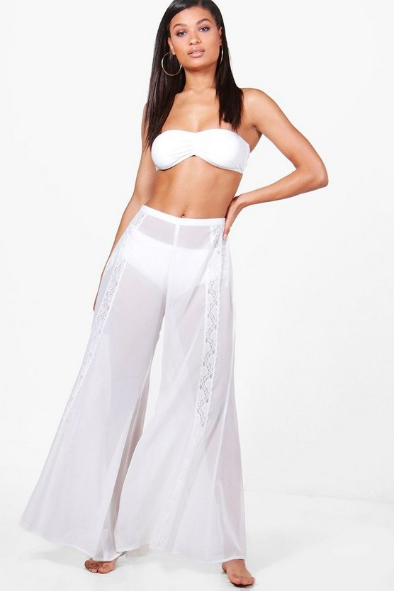 Koh Boutique Lace Flared Beach Trouser