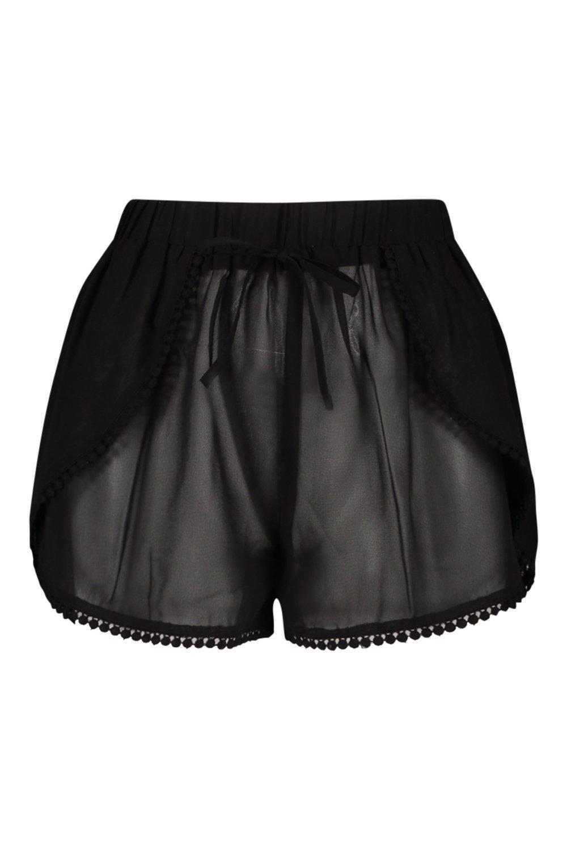 Shorts Ball Lace Beach black Ball Lace TIxq406