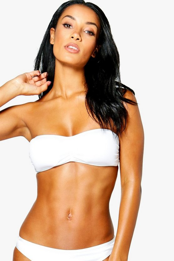 Womens White Mix And Match Bandeau Top