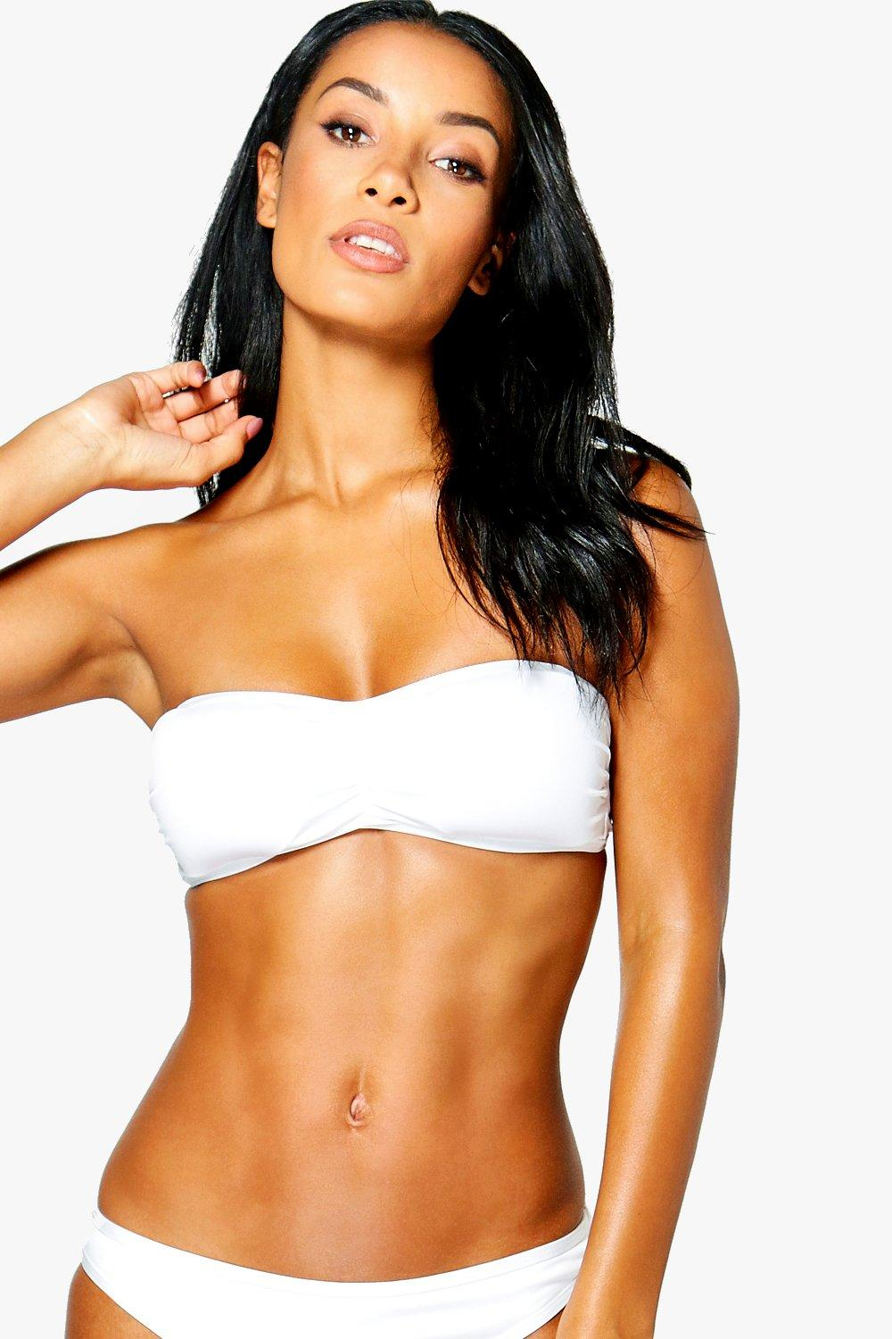And Bandeau Match Mix Top white zqAHCSxw