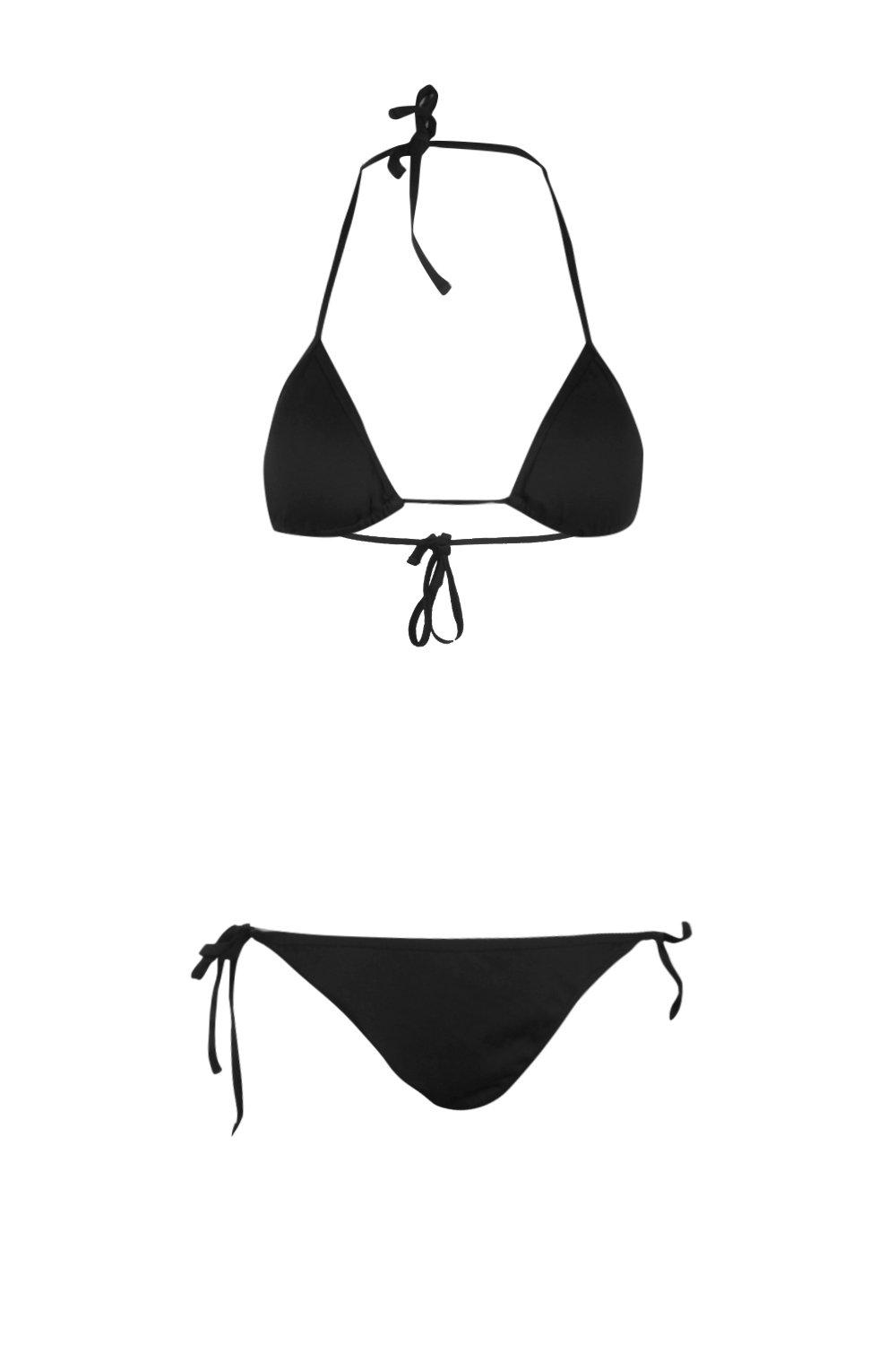 Triangle Bikini black Triangle Set Set Bikini Bikini Set Triangle black f7wCcqx