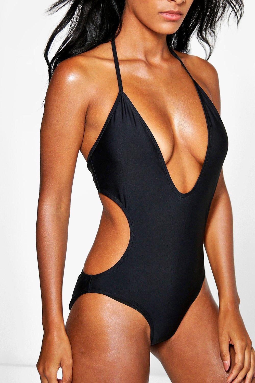 Plunge Swimsuit Deep black Deep Plunge Plunge black Swimsuit Plunge Deep Deep black Deep Swimsuit Swimsuit black qfAx4w1f
