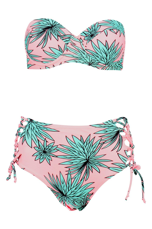 Bikini Underwired Leaf Underwired Bikini multi Highwaist Highwaist Leaf vw4q46aY