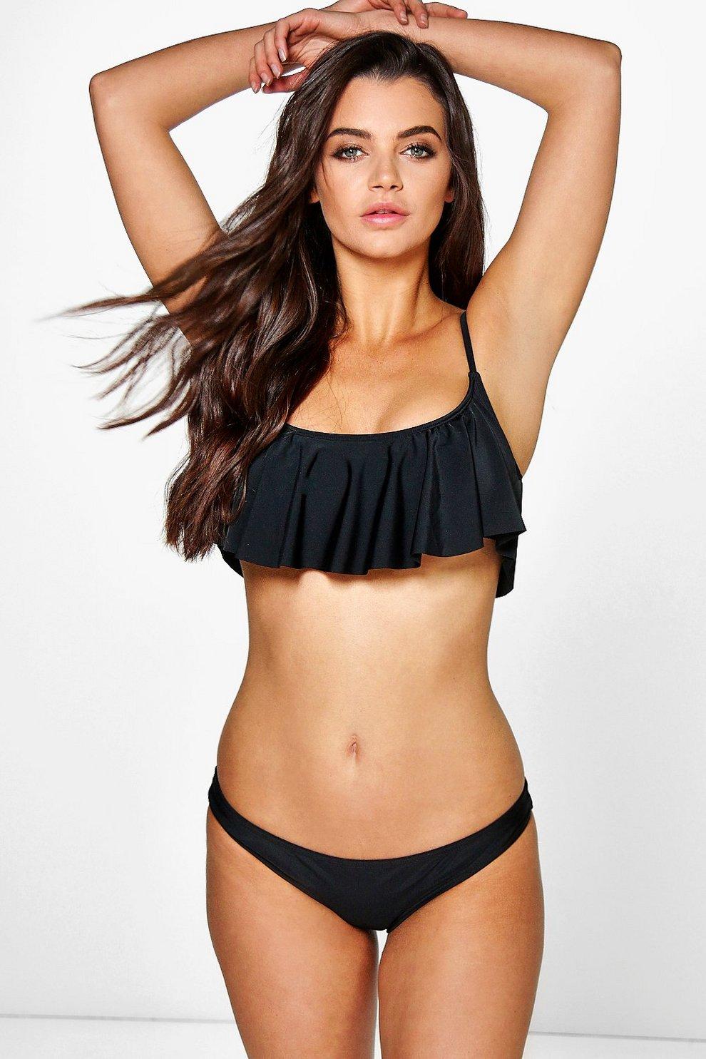0f274058f3 Mix And Match Crop Frill Bikini Top
