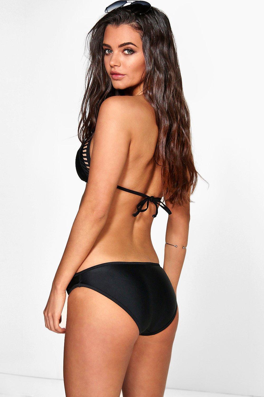 black Laser Cut Cut Triangle Triangle Laser Bikini Bikini black 5qa4SF1