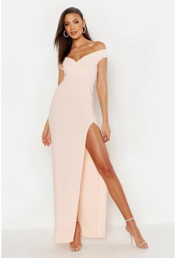 Womens Blush Tall Off The Shoulder Maxi Dress