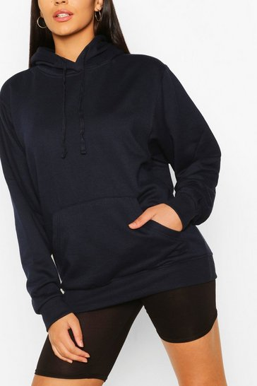 Tall Basic Navy Hoody