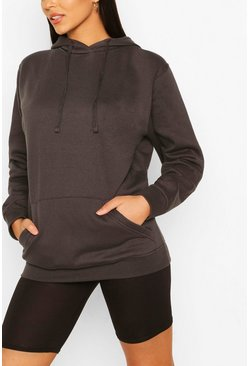 Tall Basic Charcoal Grey Hoody