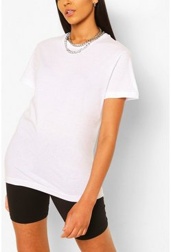 Tall Plain Cotton T-Shirt, White