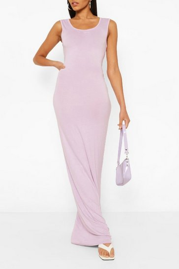 Lilac Tall Basic Maxi Dress