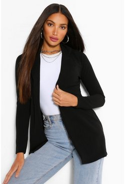 Black Tall Longline Blazer