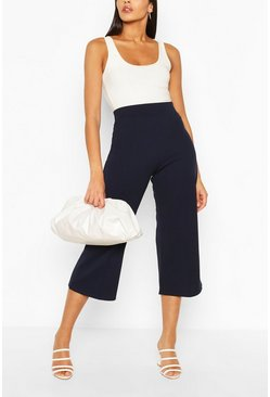 Navy Tall Tailored Woven Culottes