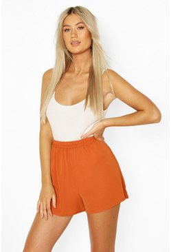Terracotta Tall Woven Floaty Shorts