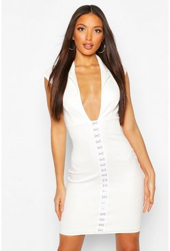 Ivory Tall Corset Blazer Dress