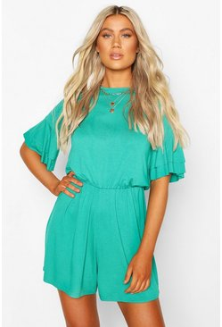 Jade Tall Basic Ruffle Sleeve Playsuit