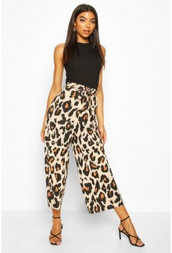 Tall Leopard Belted Culottes