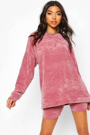 Rose Tall Chenille Oversized Sweat