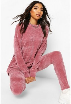 Rose Tall Chenille Joggers