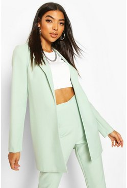 Mint Tall Edge To Edge Woven Blazer