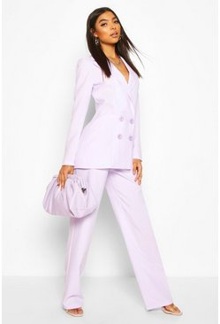 Lilac Tall Wide Leg Woven Trousers
