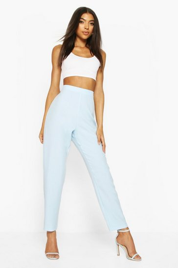 Blue Tall Straight Leg Woven Trousers