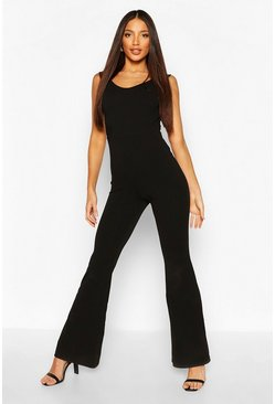 Black Tall Off The Shoulder Jumpsuit