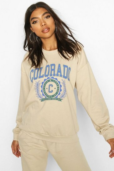 Sand Tall Colorado Slogan Sweat