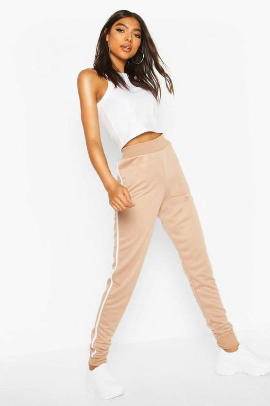Stone Tall Side Stripe Joggers